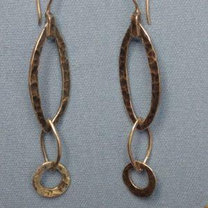 Silpada Hammered Sterling Drop Earrings